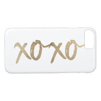 XOXO Gold Brushstoke Fashion Chic iPhone 8/7 Case