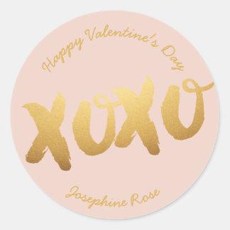 XOXO Gold Love Hugs Kisses Stickers Custom Color