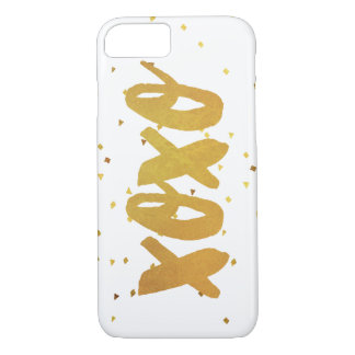 XOXO Gold Shimmer Confetti iPhone 8/7 Case