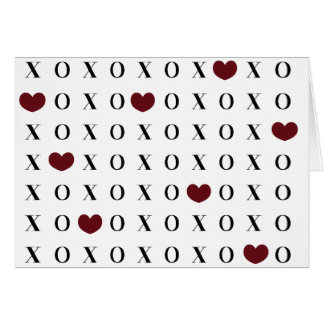 XOXO Hearts Card