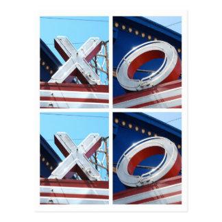 XOXO - Hip Hugs and Kisses Postcard