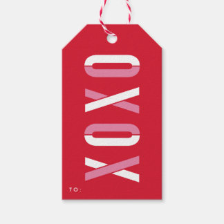 XOXO | Holiday gift tags Pack of gift tags