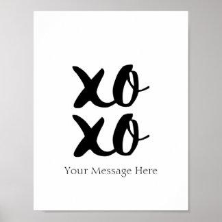 XOXO Hugs and Kisses Romantic Quote Wall Art