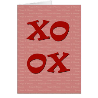 XOXO Hugs & Kisses Card