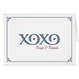 XOXO Hugs & Kisses Thank You Card