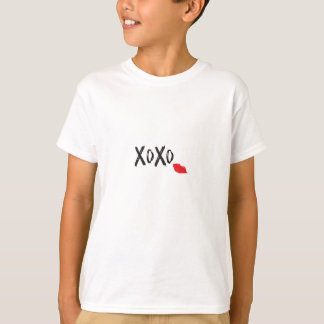 XoXo-Hugs-Kisses-with-Red-Lips T-Shirt