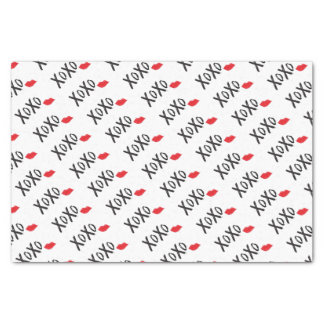 XoXo-Hugs-Kisses-with-Red-Lips Tissue Paper