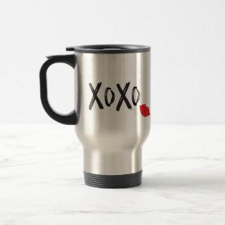 XoXo-Hugs-Kisses-with-Red-Lips Travel Mug