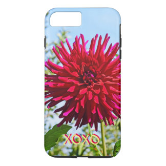 XOXO iPhone 7 cases Pink Red Dahlia Flower Love