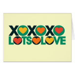 XOXO Lots of Love Greeting Card