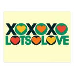 XOXO Lots of Love Postcard