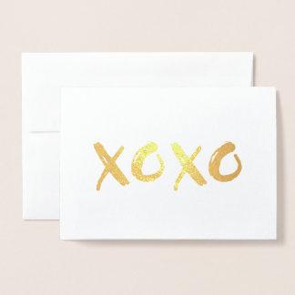 XOXO Love Anniversary Foil Card