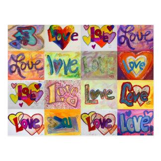 XOXO Love Mosaic Postcard