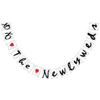 "XOXO ""LOVE"" THE NEWLYWEDS Wedding Sign Decor Bunting Flags"