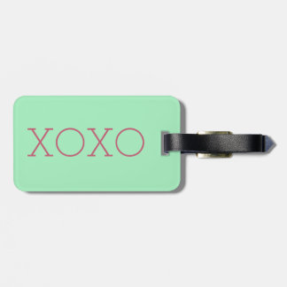 XOXO Luggage Tag w/ leather strap