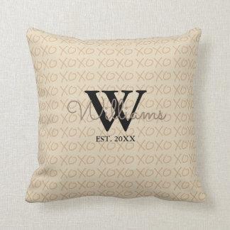 XOXO Monogram Pillow