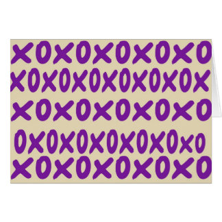 """xoxo"" Note Card"