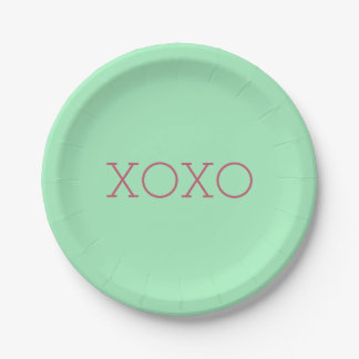 XOXO Paper Plates 7 Inch Paper Plate