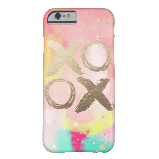 XOXO Pastel and Gold Iphone case Barely There iPhone 6 Case