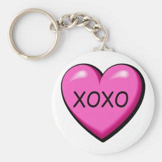 XOXO Pink Heart Keychain