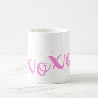 xoxo-Pink Trendy Coffee Mug