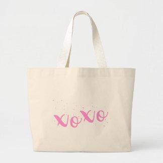 xoxo-Pink Trendy Large Tote Bag