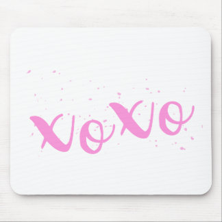 xoxo-Pink Trendy Mouse Pad