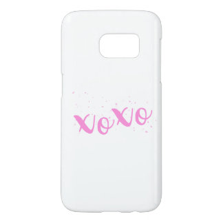 xoxo-Pink Trendy Samsung Galaxy S7 Case