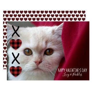 XOXO Plaid Valentine's Day Photo Card