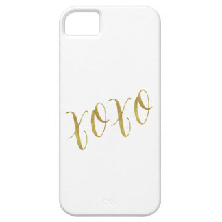 XOXO Quote Faux Gold Glitter Background Template iPhone 5 Cases