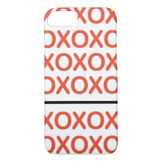 XOXO Red and White iPhone 7 Case