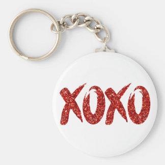 XOXO Red Glitter | Glam Brushstroke Hug and Kisses Keychain