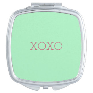 XOXO Square Compact Mirror