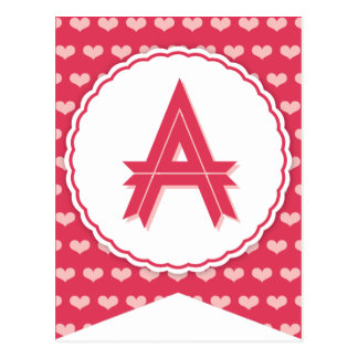 XOXO Valentine Party Flag Bunting Banner A Postcard