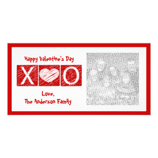 XOXO Valentine's Day Photo Cards