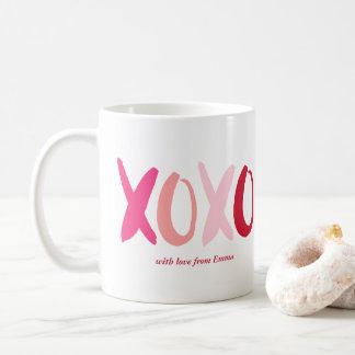 """XOXO"" Valentines Day Photo Coffee Mug"