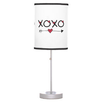 XOXO Valentines Table Lamp