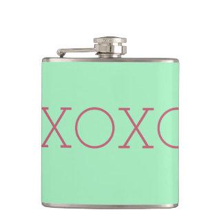 XOXO Vinyl Wrapped Flask