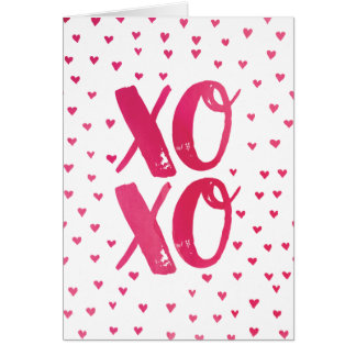 XOXO Watercolor Valentine's Day Card