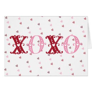 XOXO With Hearts Card