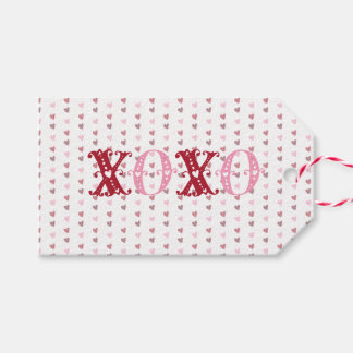 XOXO With Hearts Gift Tags