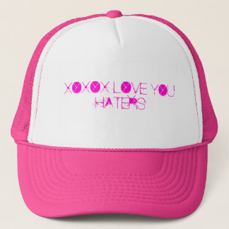 XOXOX LOVE YOU HATERS TRUCKER HAT