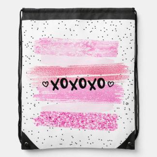 xoxoxo drawstring bag