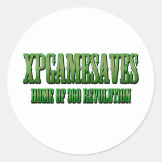 XPG green wanted look Range Round Sticker