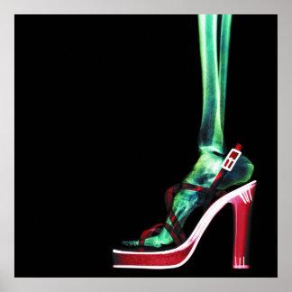 XRAY HIGH HEEL LADY SKELETON FOOT ORIGINAL POSTER