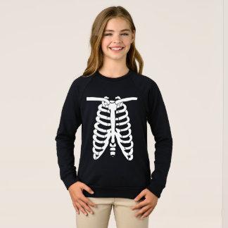 Xray white skeleton bones sweatshirt