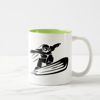 Xtreme Snowboarding Two-Tone Coffee Mug