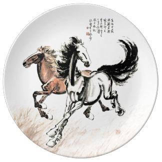 Xu Beihong Horse Painting Porcelain Plate
