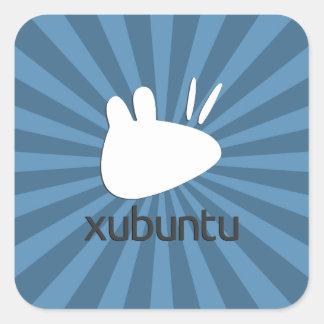 Xubuntu teal starburst square sticker