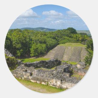 Xunantunich Mayan Ruin in Belize Classic Round Sticker